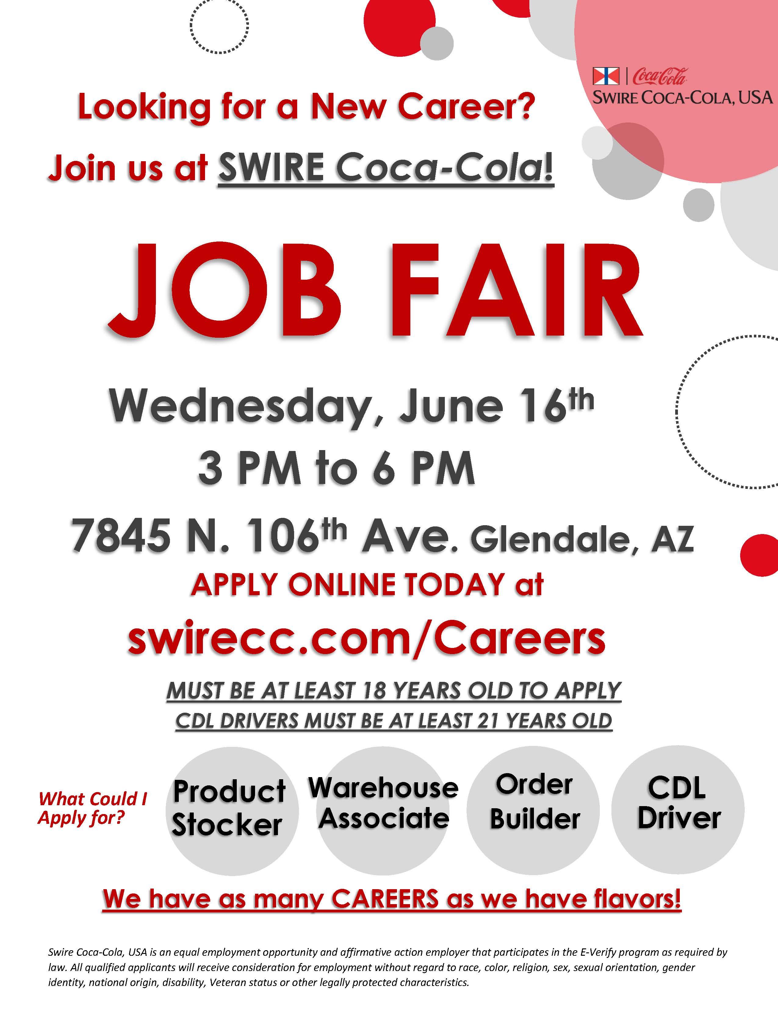 Swire Coca-Cola Job Fair Flyer