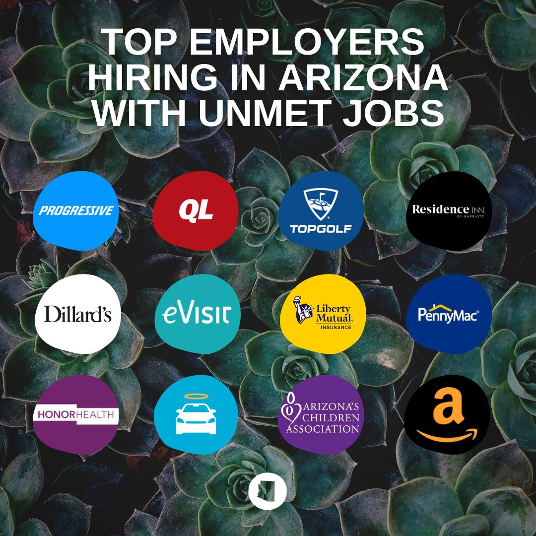 Top employers hiring in Arizona with UNMET jobs