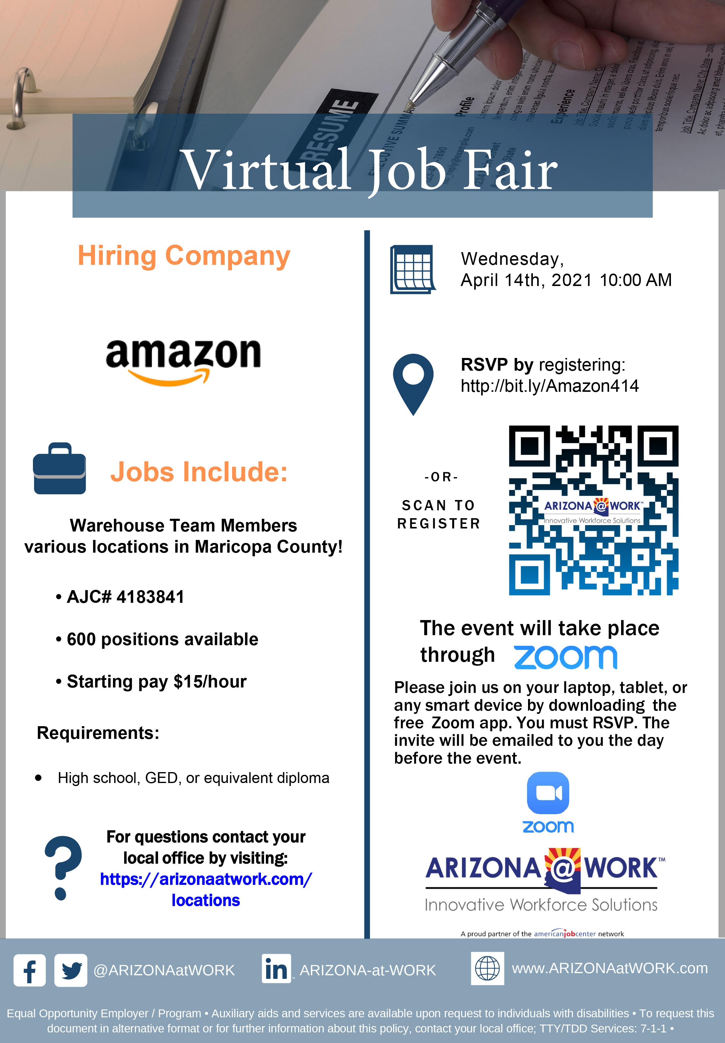 Amazon Virtual Hiring Event