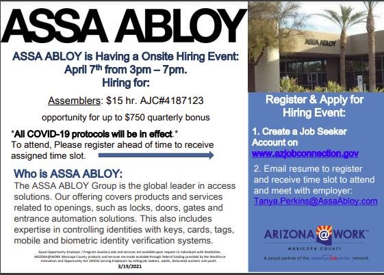 Assa Abloy Hiring Event