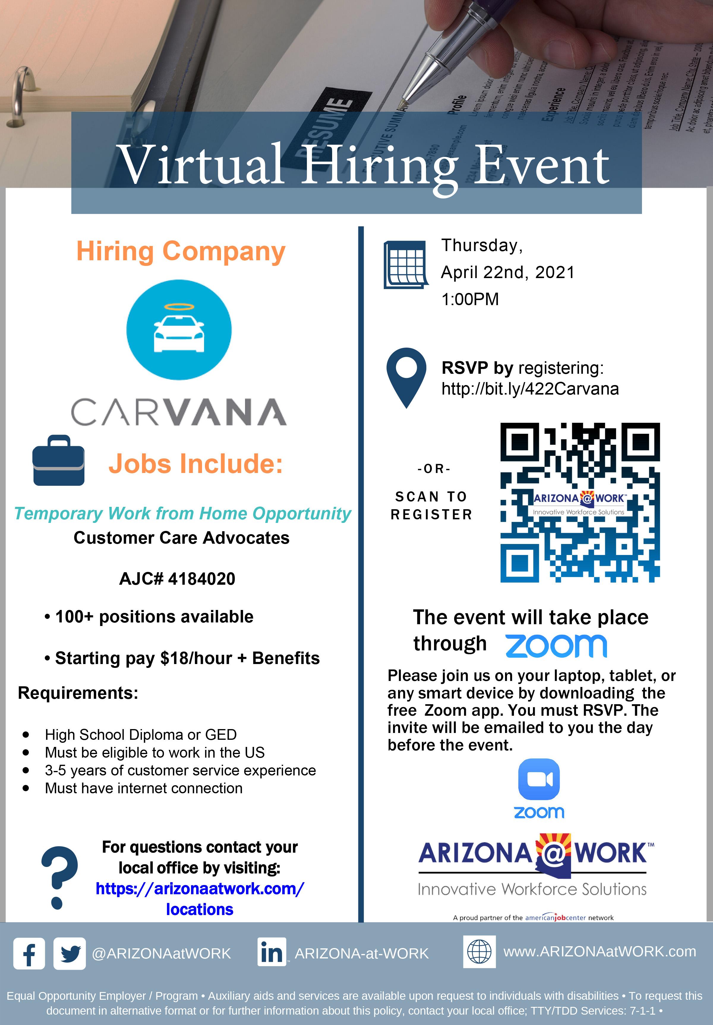 Carvana Virtual Hiring Event
