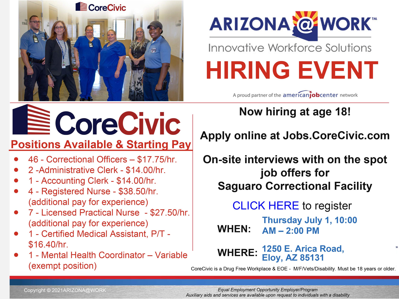 CoreCivic hiring event