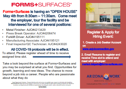 FORMS+SURFACES Hiring Event