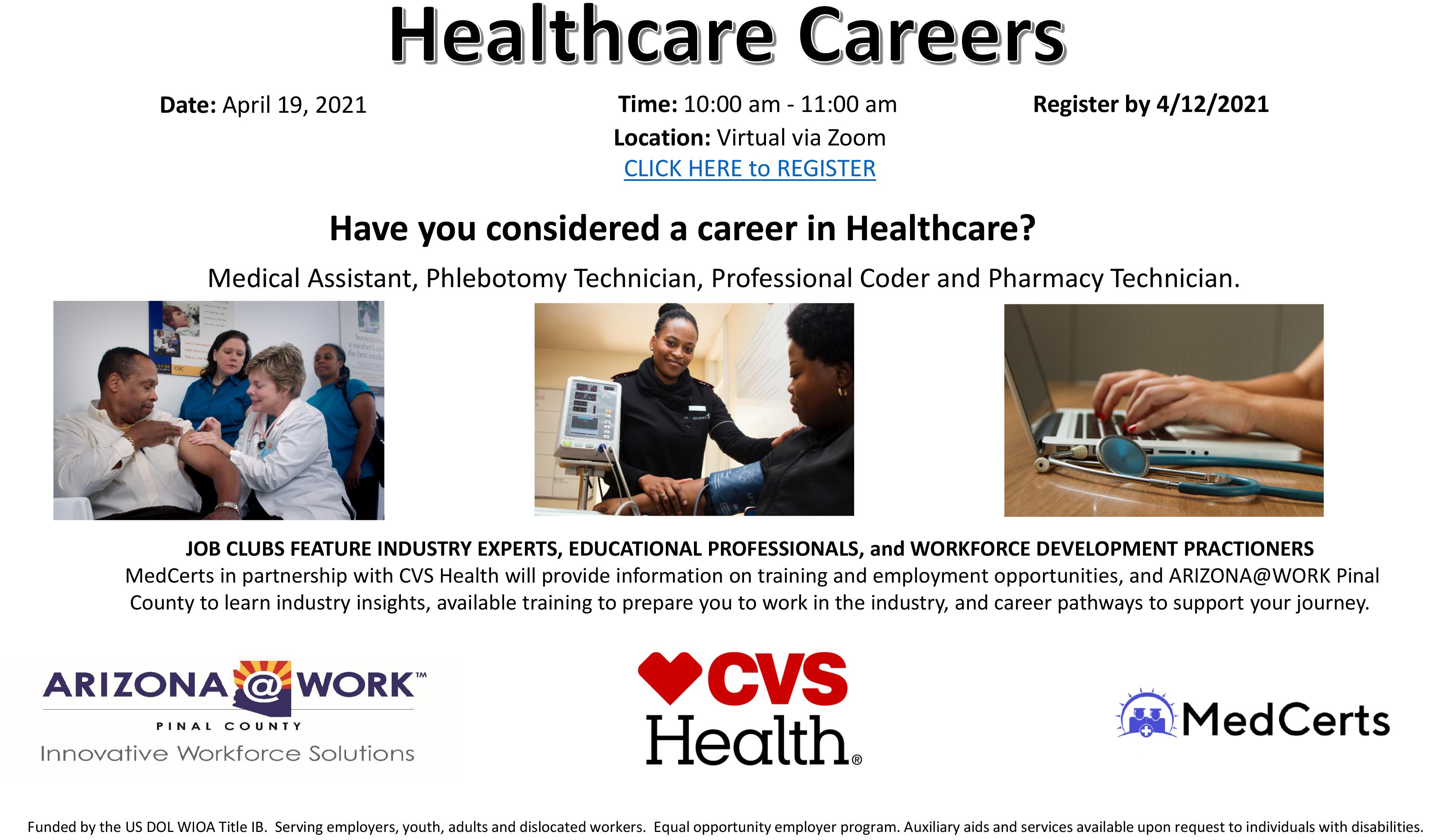 Health Services Job Club event