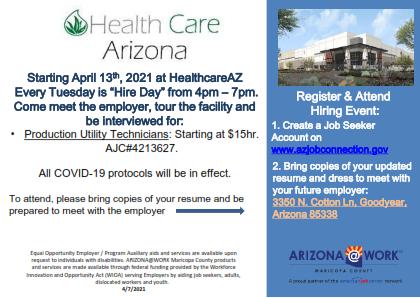 Healthcare Arizona Hiring Event