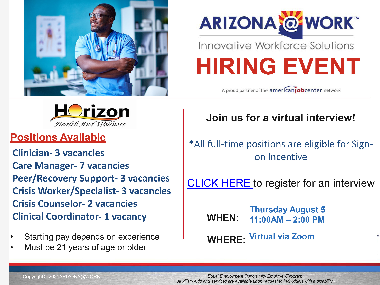 Horizon Health and Wellness job fair