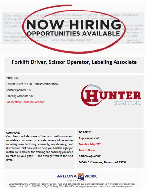 Hunter Staffing Hiring Event