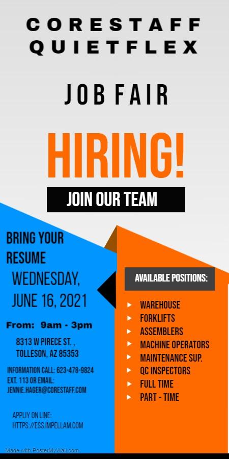 Corestaff hiring event