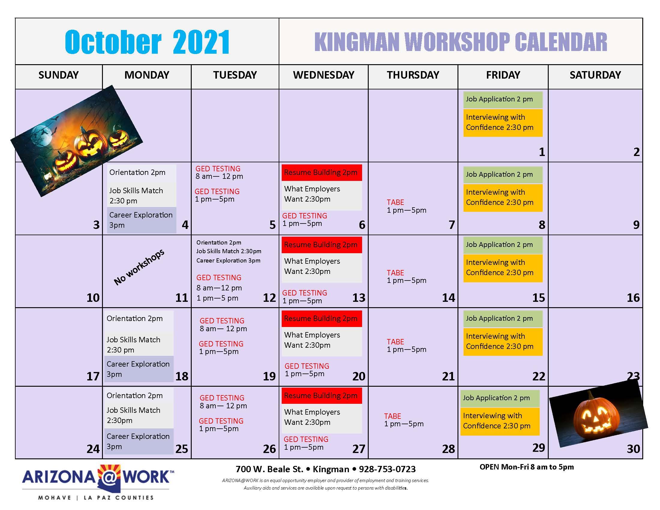KNG- 2021 Calendar Oct 2021