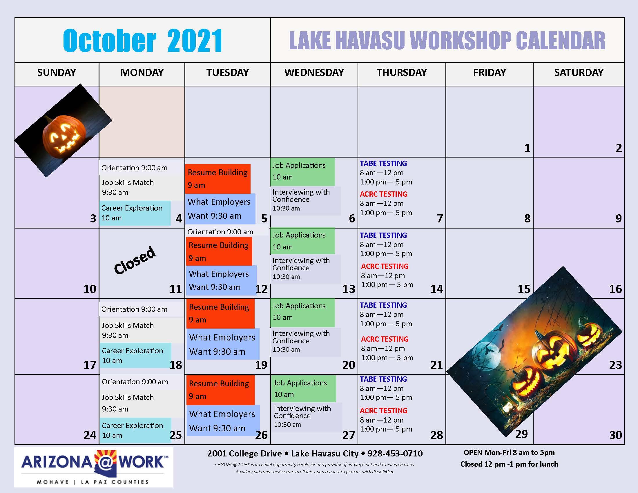 2021 Calendar Oct 2021