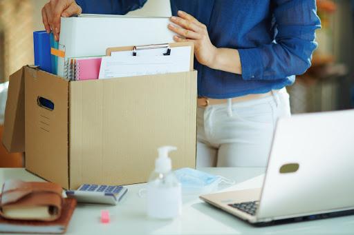 woman-organizing-desk