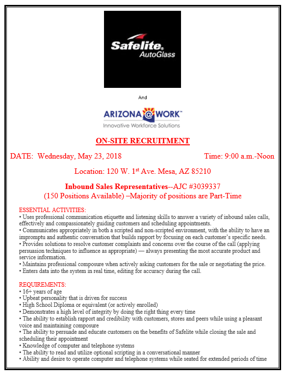 Safelite AutoGlass Recruitment