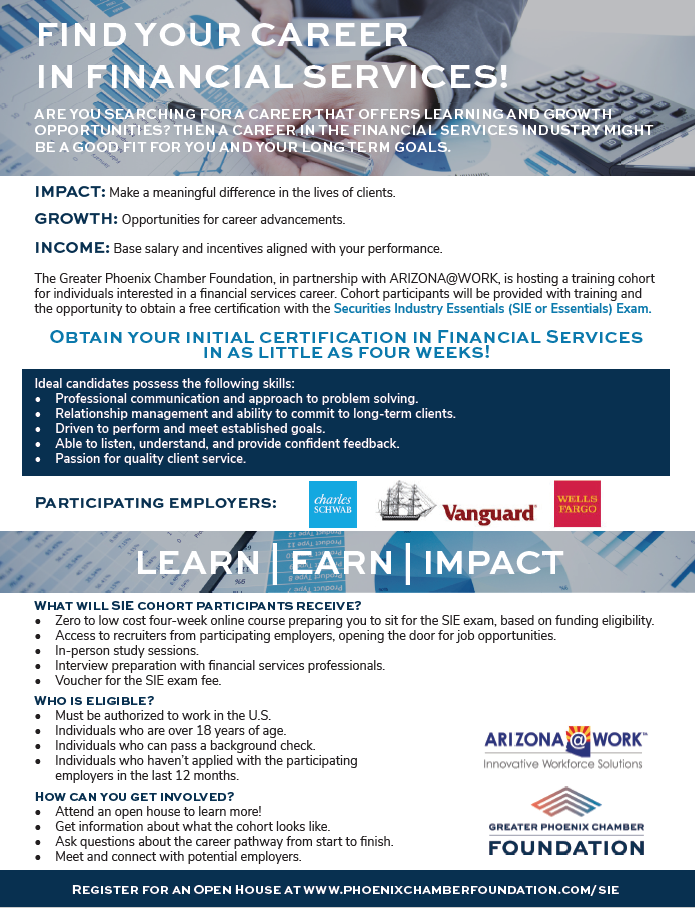 Greater Phoenix Chamber Foundation Financial Services