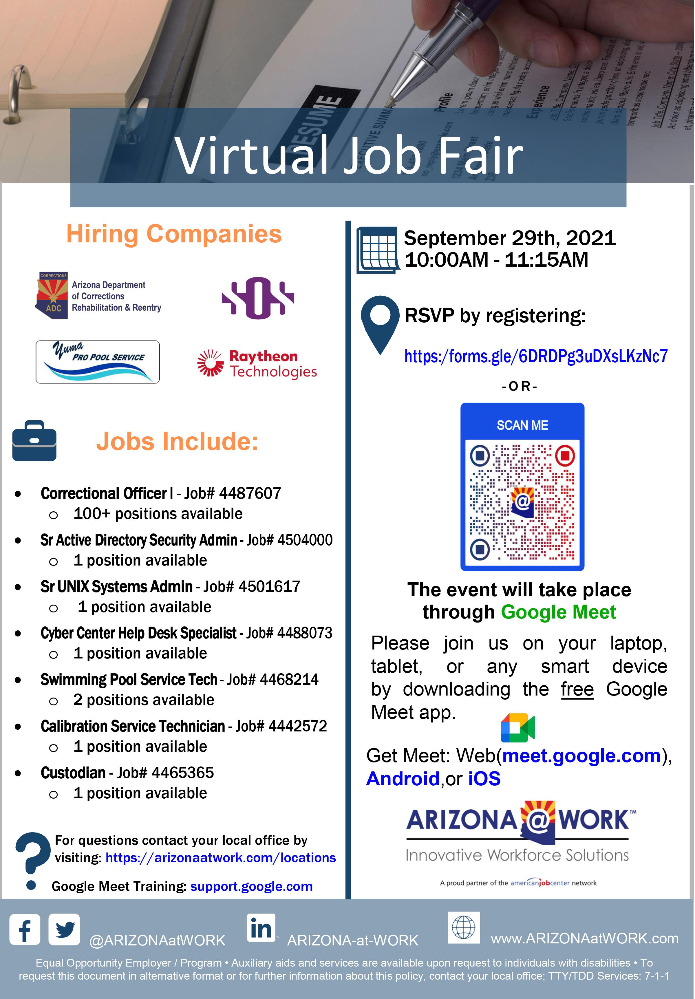 Southern AZ Job Fair