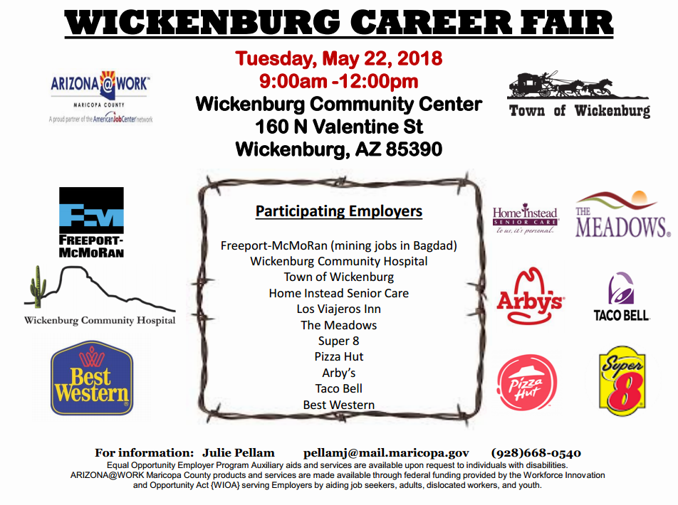 Wickenburg Summer Career Fair